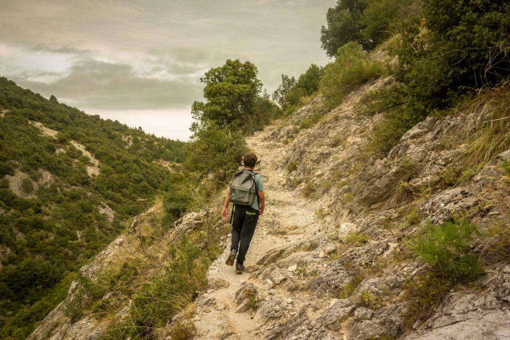 Hiking shoes, trail runners, hiking in Greece