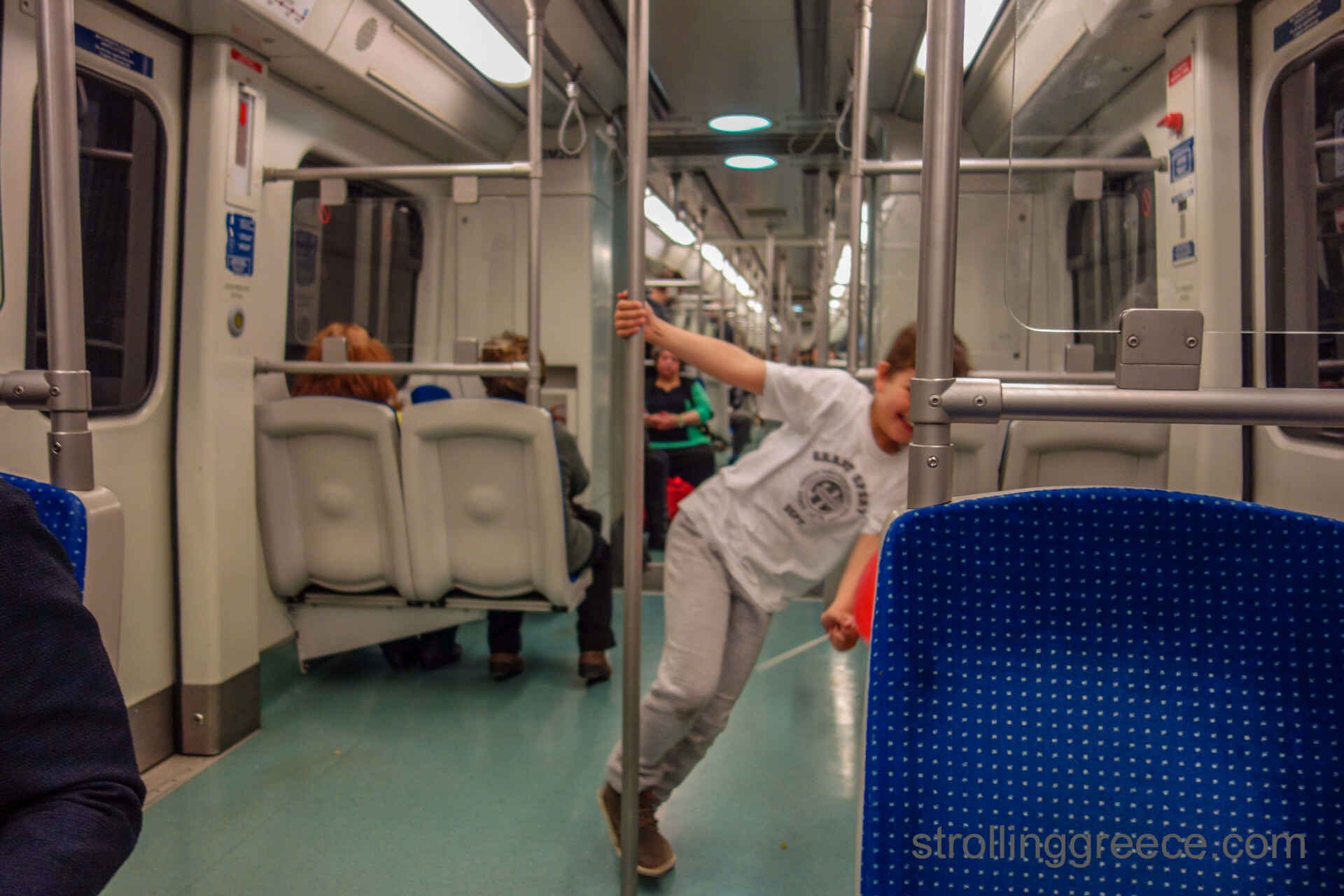 public transport in Athens Greece