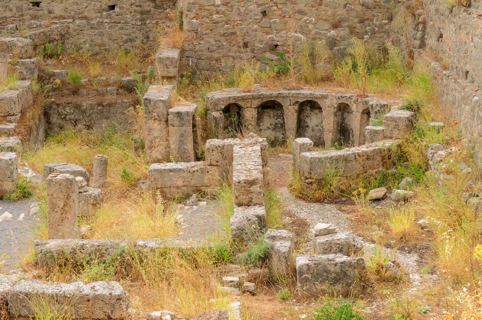 Gortis ancient Greek monuments we visited during our Peloponnese Road Trip