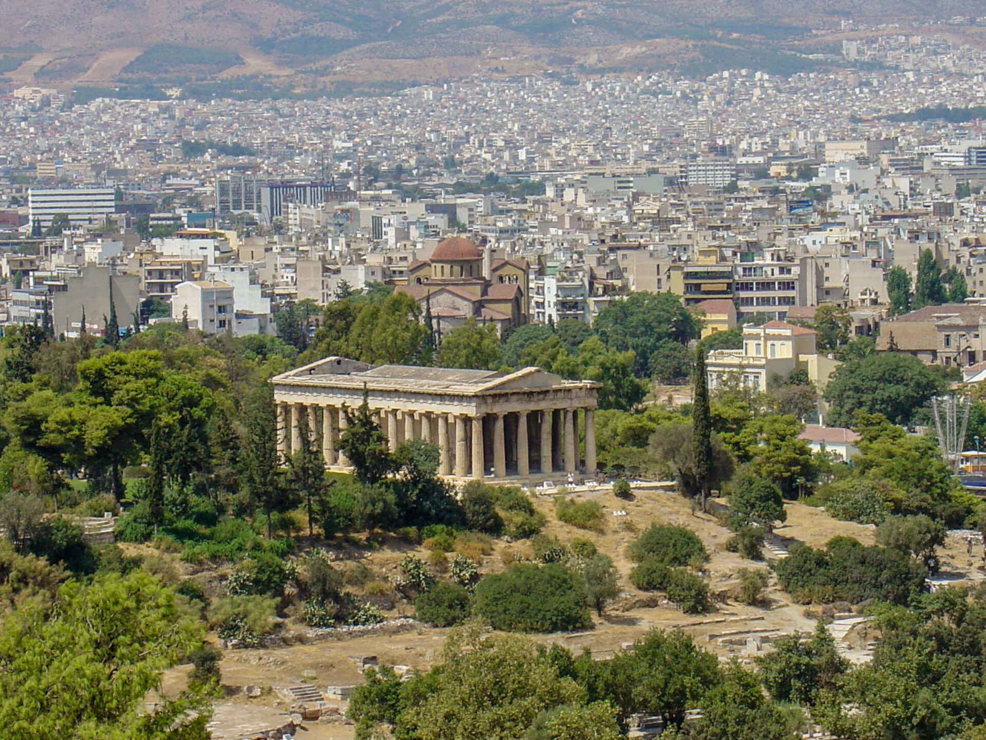 Walking tours athens to ancient agora and temple of Hephaestus.