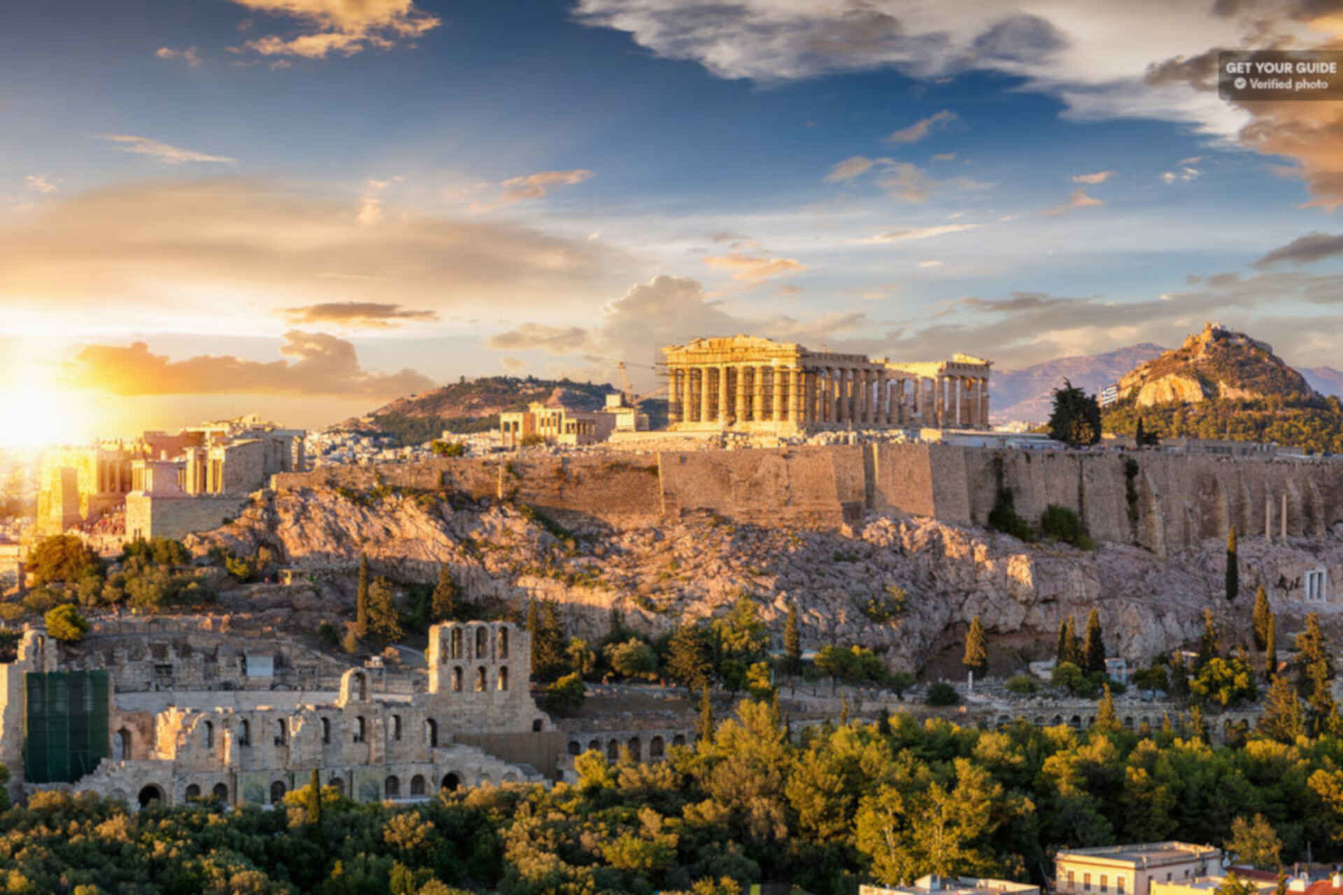 Athens Greece landmarks. The Parthenon.