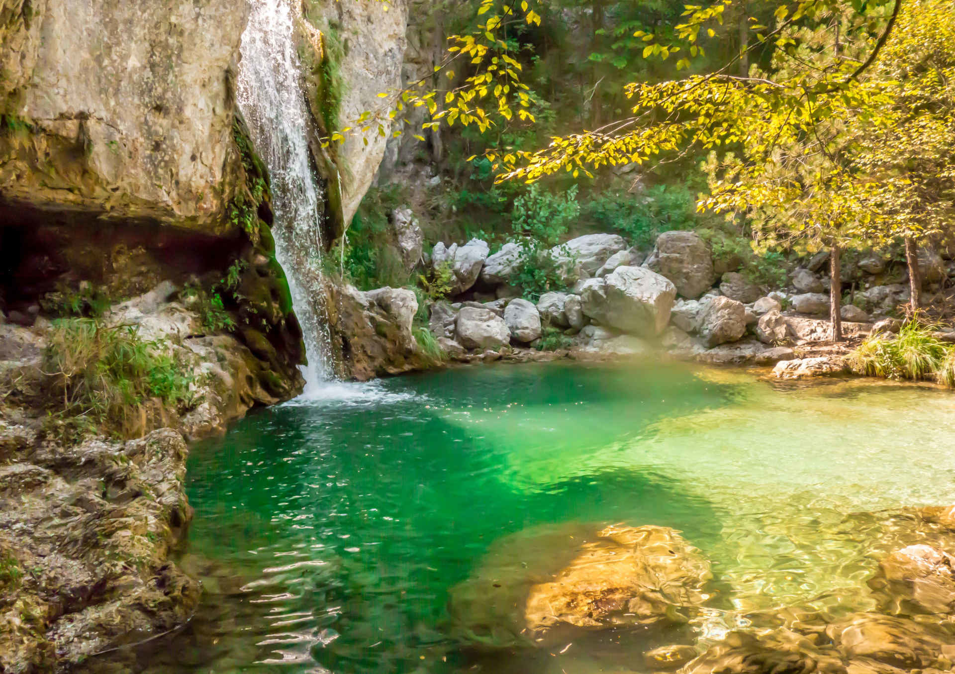 The most beautiful waterfalls and lagoons in Mount Olympus.