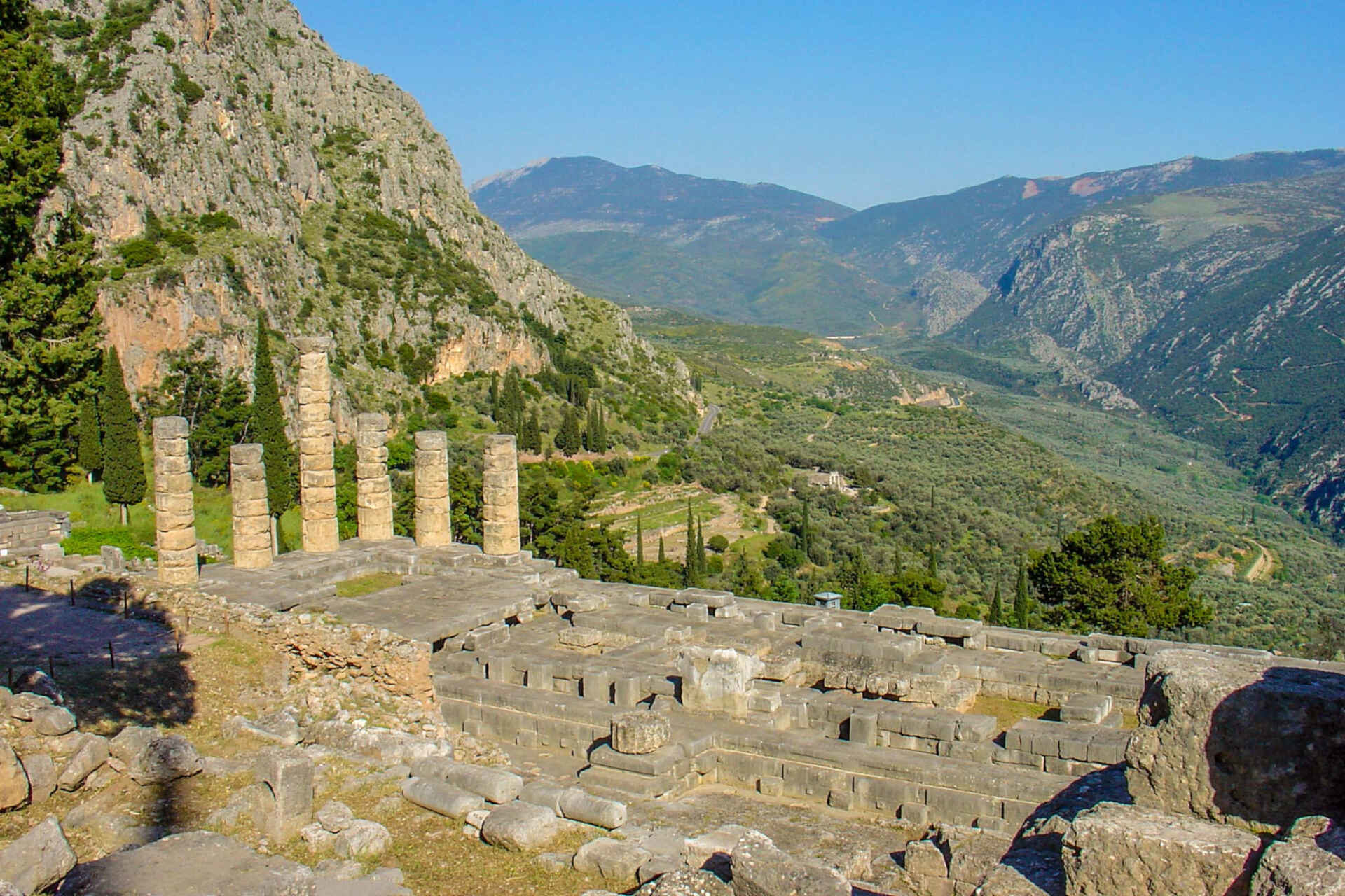 Apollo Temple in Delphi Greece